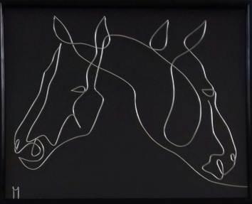 Încă 2 cai– desen-sculptură în fir continuu de sârmă de 1 mm 20180713_100646-1