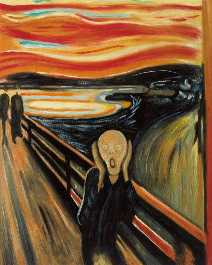 The Scream - Edvard Munch MU1091-1000x1000