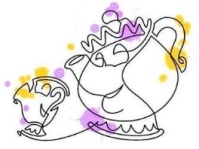 Mrs. Potts and Chip #sophiemorse97